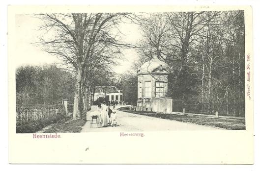 Prentbriefkaart van e koepel van Bosch en Hoven aan de Heerenweg/Wagenweg die nadien is verplaats naar Aerdenhout/Bentveld.