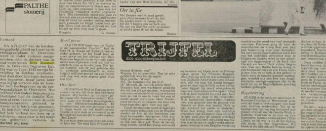 Trijfel door Nico Scheepmaker (Leeuwarder Courant, 14-51984)