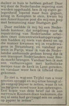 Vervolg Trijfel (Nico Scheepmaker, 14-5-1984