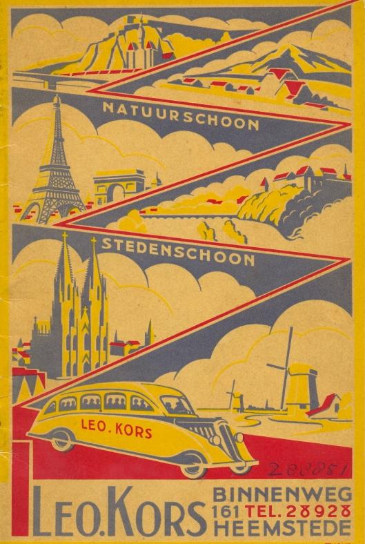 Brochure van reisbureau Leo Kors, Binnenweg 161 Heemstede