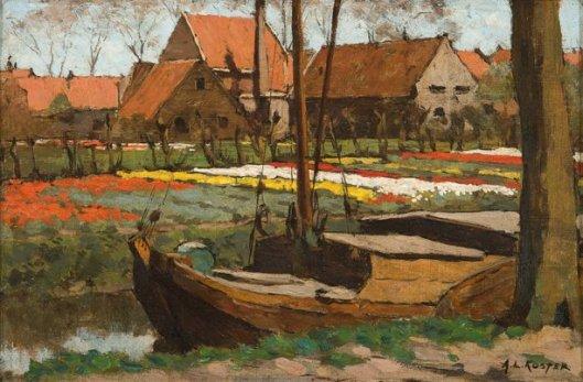 Anton L. Koster (1859-1937): Tulpenkwekerij aan de Kerklaan te Heemstede (Kunsthandel Mark Smit)