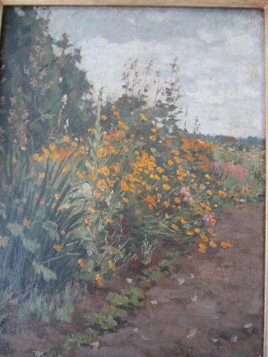 A.L.Koster: Bloemenveld te Heemstede, 1916