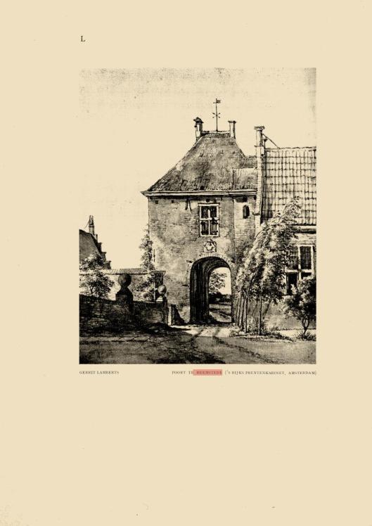 De poort naar het slot te Heemstede; tekening door G.Lamberts (Rijksmuseum; uit: Elsevier's Geïllustreerd Maandblad, 1909).