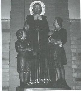 Beeld van J.B.de la Salle in de Bavokerk Heemstede