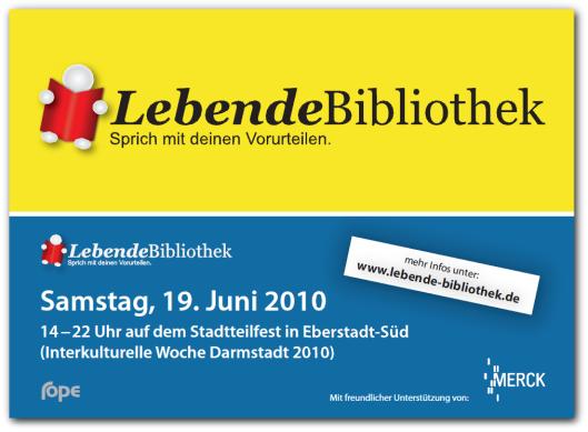 'Lebende Bibliothek' in Stadsbibliotheek van Darmstadt