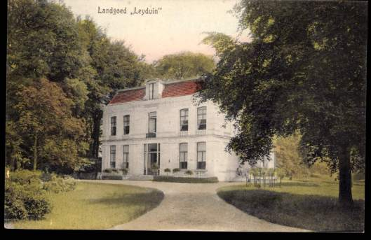 Ansichtkaart van het oude Leyduin-huis