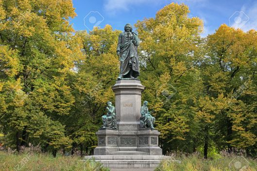 Carl Linnaeus Monument in Stockholm, Sweden
