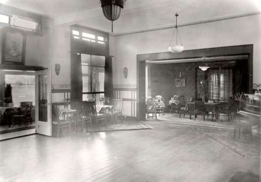 Interieurfoto van Lommeroord uit 'Het Leven', 1928