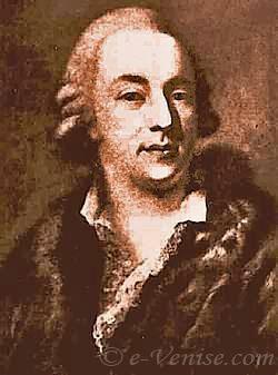 Giacomo Casanova naar een schilderij van Pietro Longhi