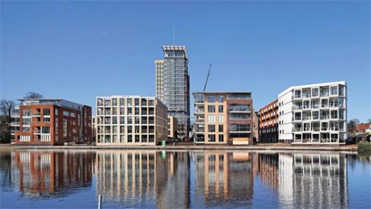 Waar tot 2004 ziekenhuis Mariastichting in bedrijf was kwam in 2009/2010 het project 'Schat aan het Spaarne'tot stand. omvattende o.a. 385 woningen. Gerealiseerd onder architectuur van aTA (architectuurcentrale Thijs Asselberg) en FARO architecten.