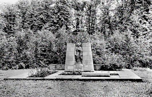 Heilig Hart beeld in de tuin van Mariënheuvel, Heemstede (Katholiek Documentatie Centrum)