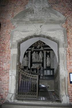 Gezicht op de Marselis-kapel in de dom van Aarhus. Constantin Marselis, in 1647 geboren te Amsterdam als zoon van Gabriël Marselis, overleed in Denemarken in 1699 (foto: julia&kelt)