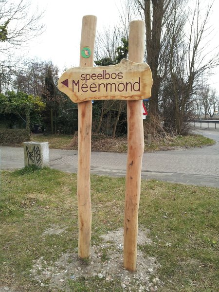 Verwijzing naar speelbos Meermond in Heemstede (foto gem. Heemstede, 2013)