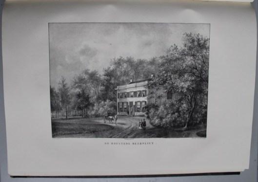 De hofstede Meervliet ten zuiden van Velsen. Aangelegd door mr. Lucas Trip, burgemeester van Amsterdam en omstreeks 1840 in eigendom van mr.W.F.Mogge Muilman die het huis vergrootte. (P.J.Lutgers)