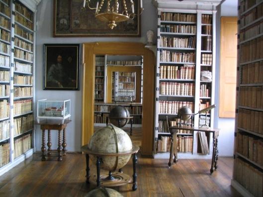 Foto van de Mnichova kasteelbibliotheek waae veel van de boeken der Von Waldsteins uit de periode van Cananova naar toe zijn verhuisd.