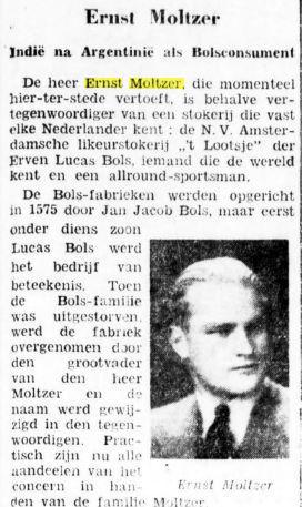 Ernst Moltzer, fabrikant en allround sportman. Uit: Bataafsch Nieuwsblad, 23-7-1937