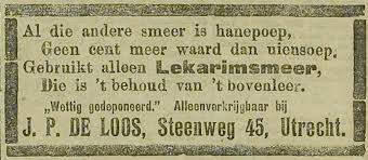 Advertentie uit Utrecht