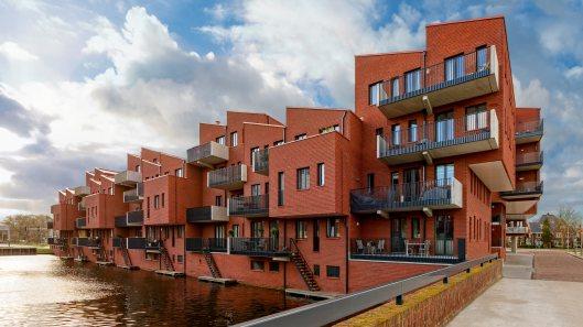 Nieuwbouw in Heemstede nabij Heemsteedse Dreef en Wipperplein. Uitgeroepen tot BNA-gebouw van het jaar (foto André van Dijk)