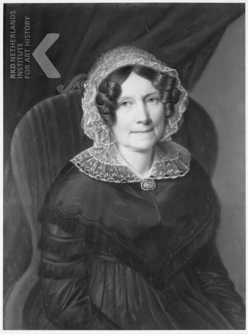 Johanna Maria Nutges (1784-1858). Pasteltekening toegeschreven aan Heinrich Siebert (RKD, Iconografisch Bureau)