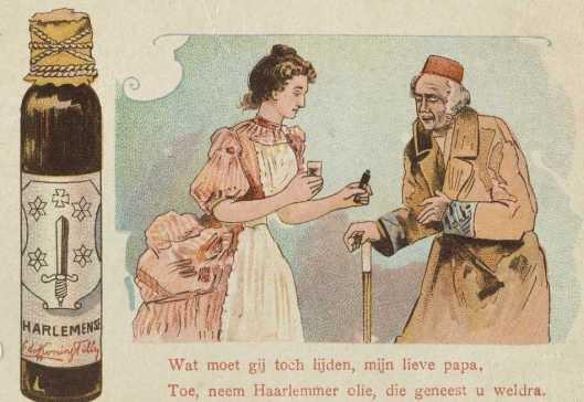 Reclame voor Haarlemmerolie