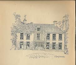 Huis Oosterhout, in 1945 getekend door G.C.Jongh Visscher