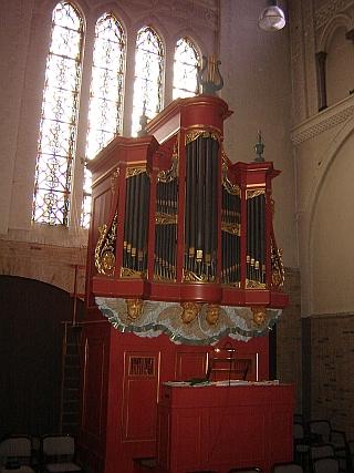 Het orgel na de restauratie in 1970, waarbij ook de oorspronkelijke verflaag is hersteld. In 1991 en 2004 zijn respectievelijk een controle van de intonatie en schoonmaakwerkzaamheden uitgevoerd door Flentrop Orgelbouw uit Zaanstad.