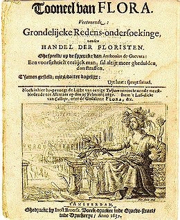 Pamflet over de tulpomanie uit 1637.