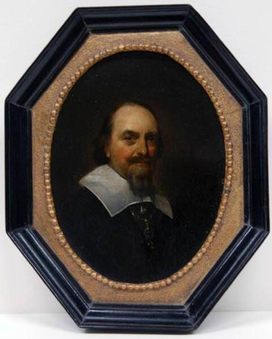 Portret van Adriaan pauw door Gerard Terborch, circa 1646. In langdurig bruikleen Frans Hals Museum