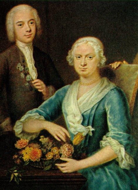 Petronella van Lennep- de Neufville (1688-1739) en haar zoon Jacob Pieter van Lennep