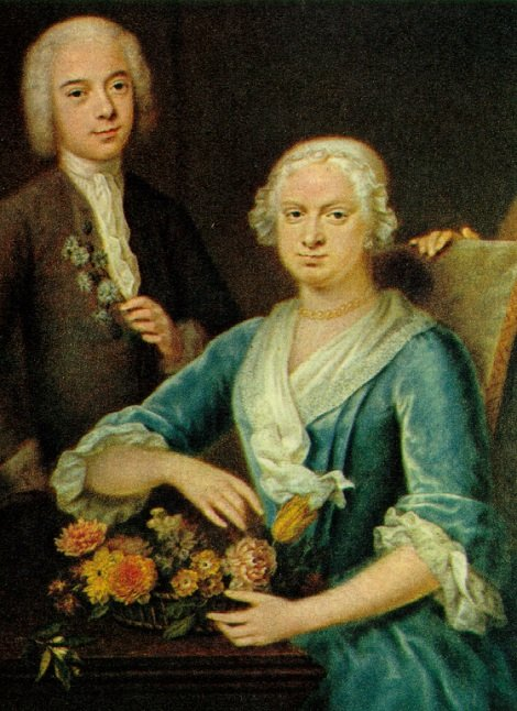 Petronella de Neufville (1688-1739) en haar zoon Jacob Pieter van Lennep