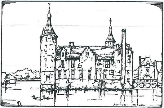 Het Huis te Heemstede getekend door Anton Pieck