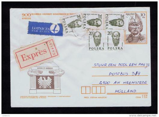 Enveloppe 'Pakje voor Polen'