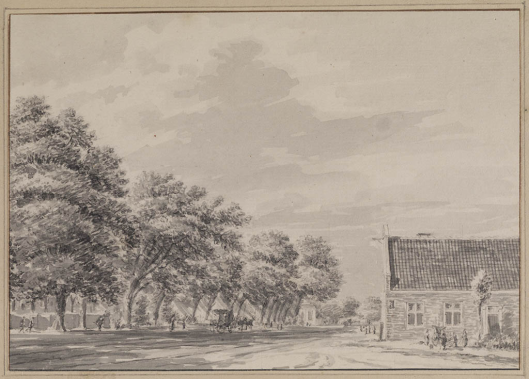 Het Posthuis in Heemstede door Hendrik Spilman (1721-1784) (Teylers Museum)