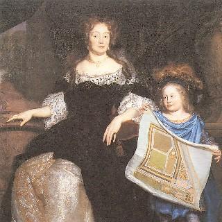 Magdalena Poulle met haar neef Pieter (door David van der Plas, in Gunterstein, Breukelen)