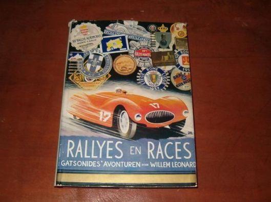 Vooromslag van rallyes en races door Gustav Leonard