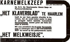 Reclame voor karnemelkzeep 'Het Melkmeisje' uit 1919