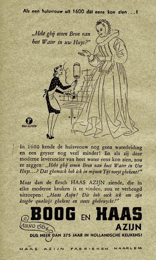 Advertentie van Haas' en Boog Azijn Haarlem