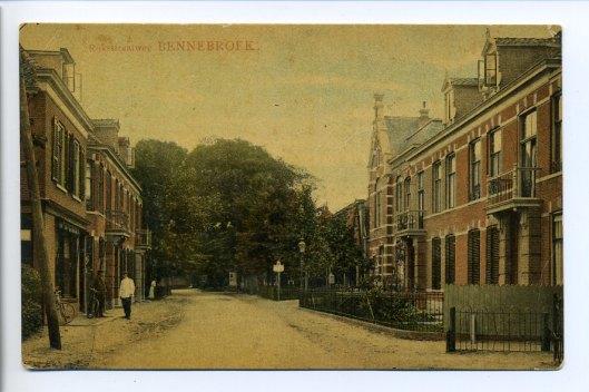Rijksstraatweg Bennebroek omstreeks 1920