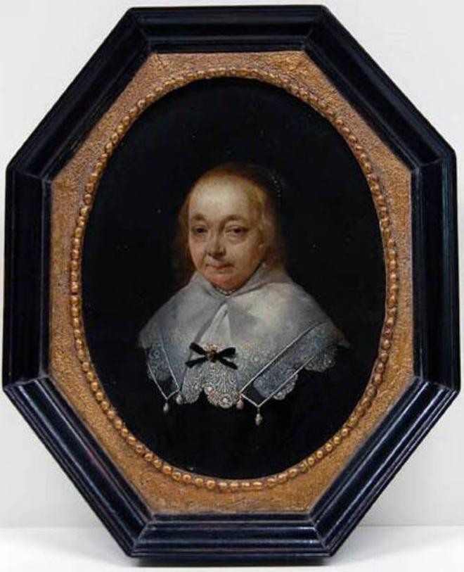 Anna van Ruytenburch, (tweede) echtgenote van Adriaan Pauw. Door Gerard Terborch circa in 1646 of 1647 geportretteerd toen zij al ziekelijk was. 3 november 1648 overleden , bijgezet in het koor van de kerk te Heemstede. Schilderij in bruikleen Frans Hals Museum