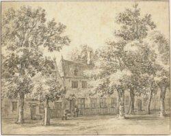 Herberg Rustenburg. Tekening door Barent Gael (1635-1698) uit 1690 (N.H.A.)