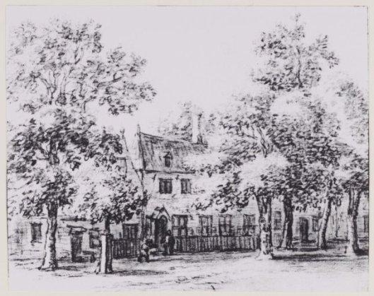 Tekening van herberg Rustenburg door Barend Gaal, 1770 (NHA)