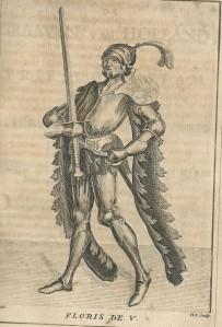 Floris V. Gravure uit: De graaven van Holland; door Pieter Langendijk. Haarlem, Bosch, 1745.