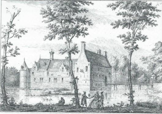 Het kasteel van Heemstede in 1607 naar een schets van D.Vinkeboons