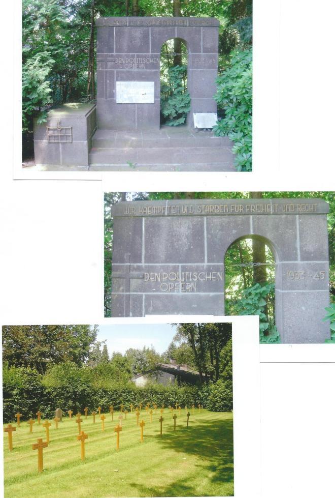 Kerkhof en herdenkingsmonument voor omgekomen politieke gevangen in Siegburg
