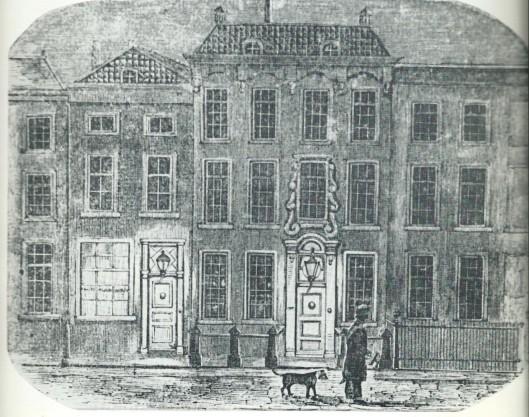 Sterfhuis van Vrouwe Johanna Maria Dutry, gesepareerde huisvrouw van Jan Frederik Hendrik de Drevon), Riviervismarkt, 's-Gravenhage.