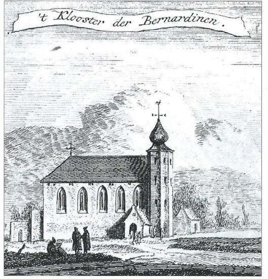 De Bernardietenstins in Haarlem was eigendom van het Bernardietenklooster in Heemstede, door Hendrik Spilman in koper gebracht (1764)