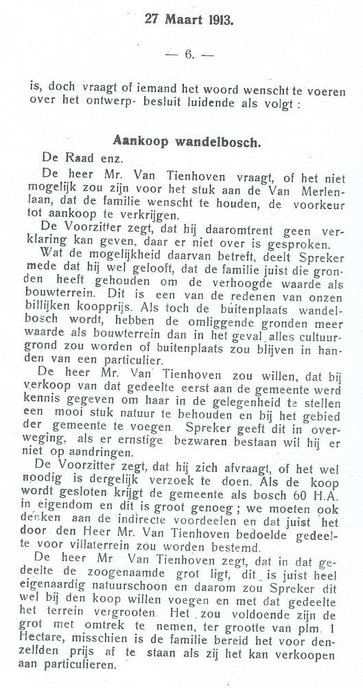 Vervolg Raadsnotulen 27 maart 1913 (2)