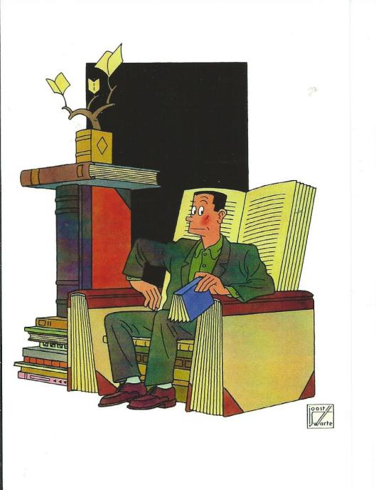Joost Swarte. Fall Books (cover) The New Yorker, October 5, 1998