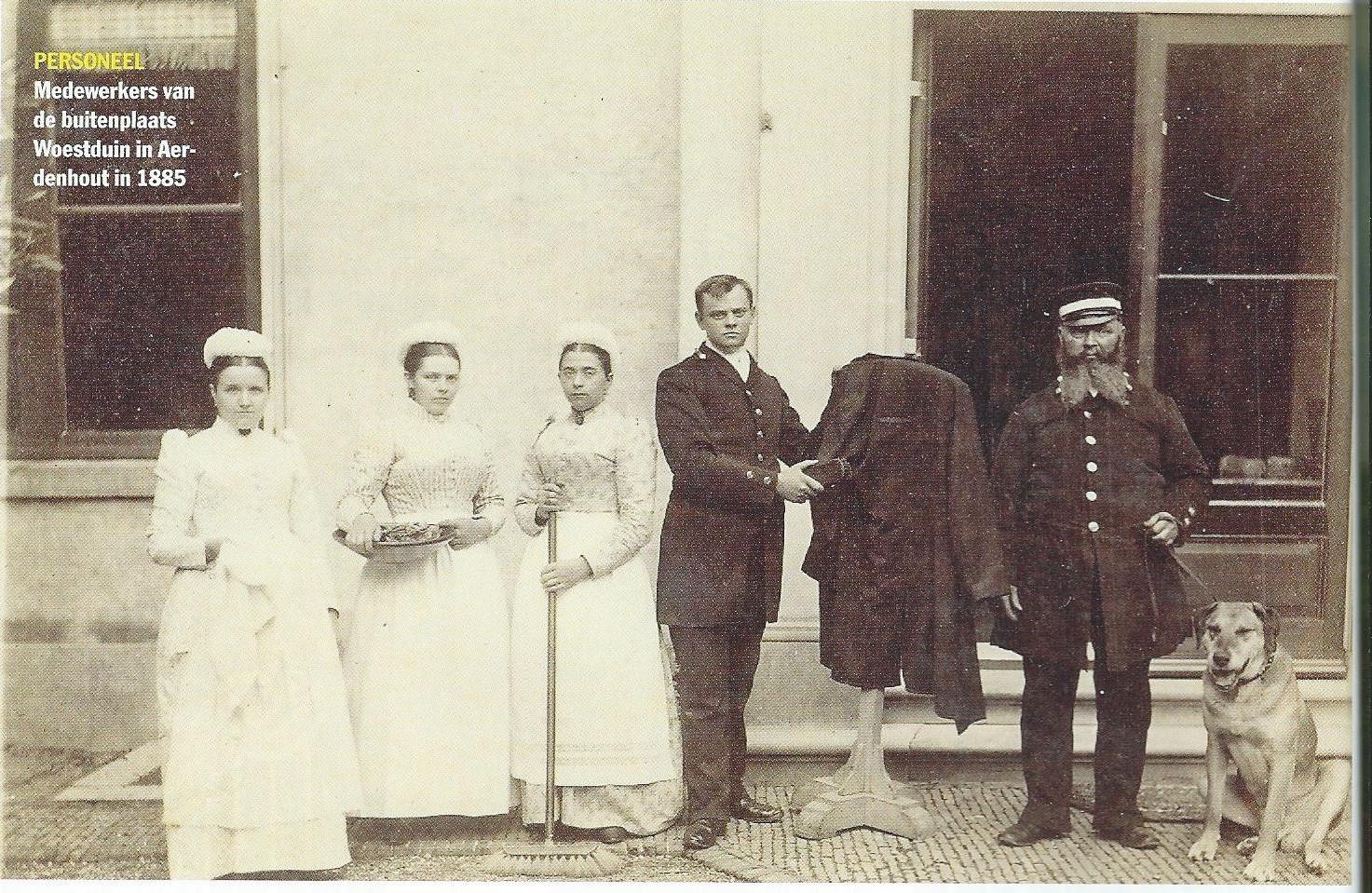 Personeel van Woestduin in 1885