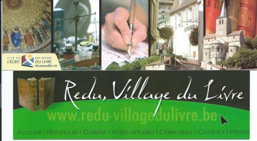 Boekenleggers van boekensteden Montmorillon (Frankrijk) en Redu (België).